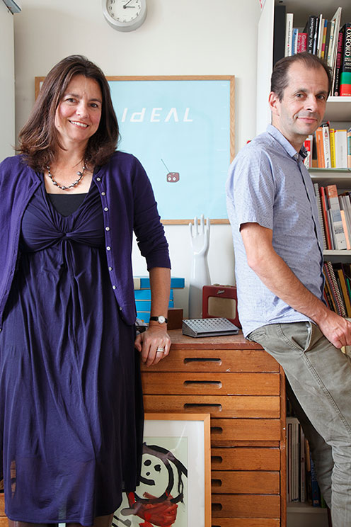 Roz Streeten & Steve Kamlish in their studio