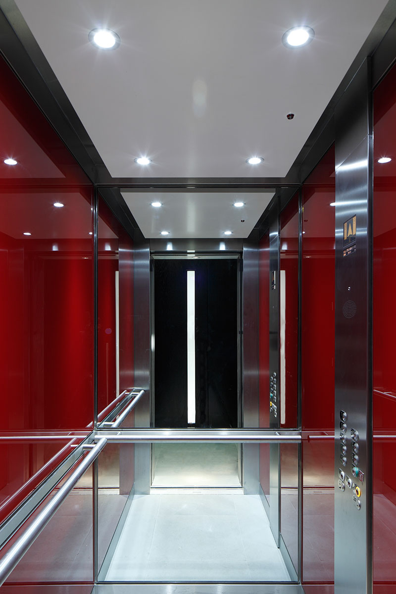 Lift in a building by Squire & Partners. This one involved a fair amount of Photoshop