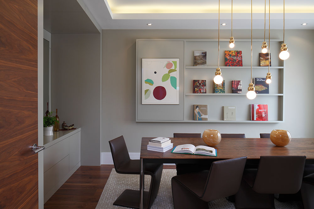 Architectural dining room by MAP Projects.