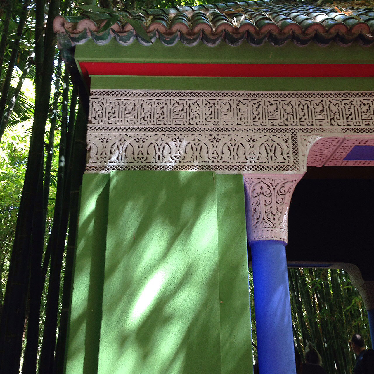 In the garden of Majorelle, in Marrakech