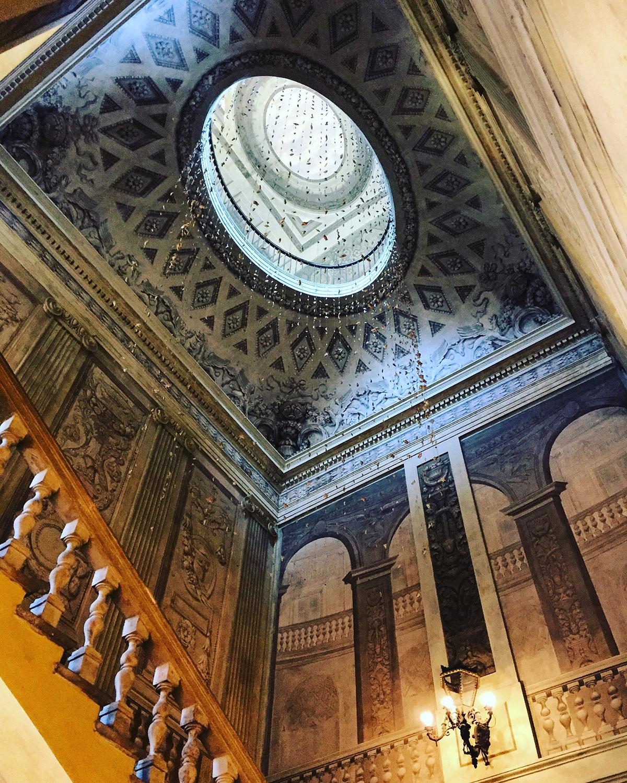 Staircase in the Museo Internazionale e Biblioteca della Musica di Bologna