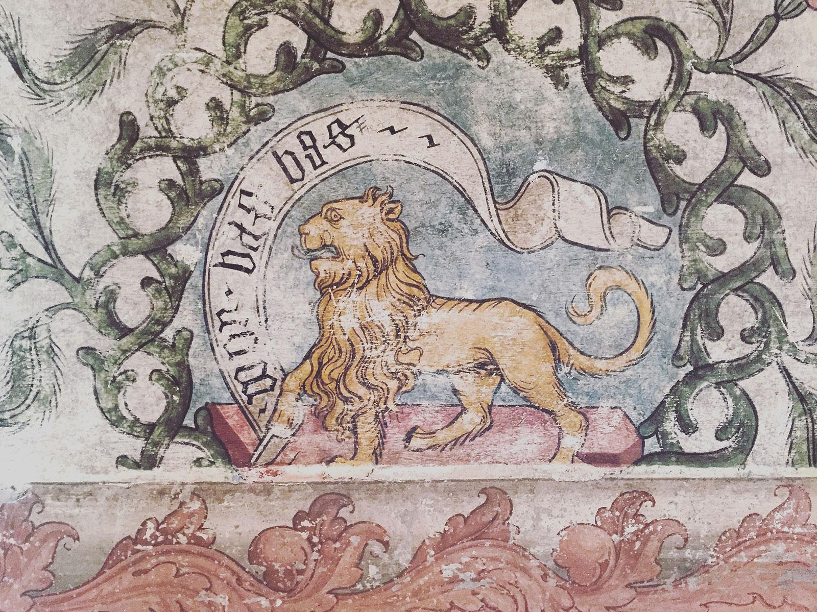 The Coat of Arms room, Rocca di Vignola